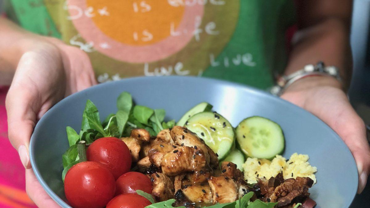 Letnja salata sa belim mesom