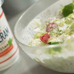 Salata od piletine sa bukovačom i povrćem
